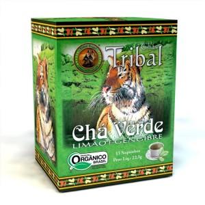 Chá Verde Tribal Brasil - Limão e Gengibre - Sachê (15 sachês)