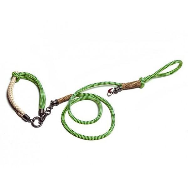 Guia & Coleira (Rope Green) - Recman