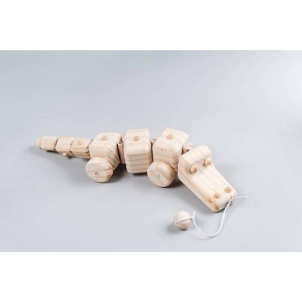 Jacaré articulado de Puxar - Olly Toys