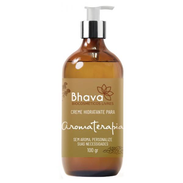 Creme Hidratante Para Aromaterapia Natural 100 ml Bhava