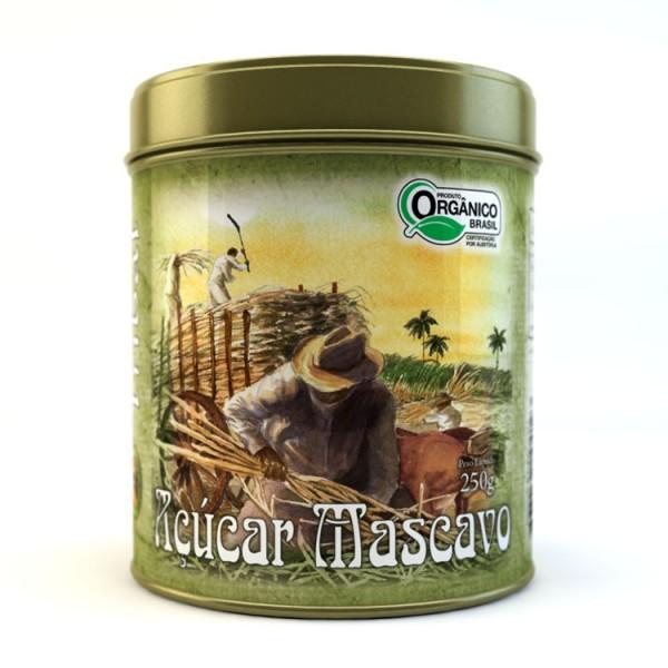 Açúcar Mascavo Orgânico - Tribal Brasil - Lata 250g