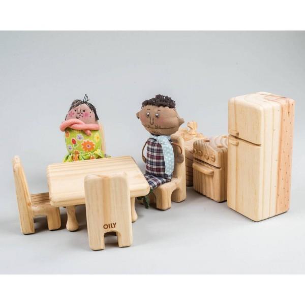 Cozinha para casinha de boneca - Olly Toys