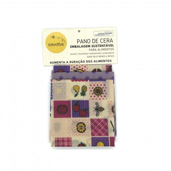 Kit 3 Panos de Cera G (35 x 38 cm) - Envolve