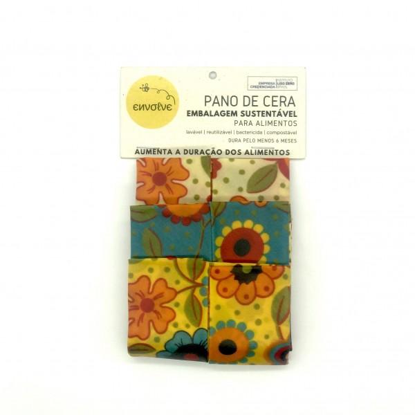 Kit 3 Panos de Cera M (25 x 28 cm) - Envolve