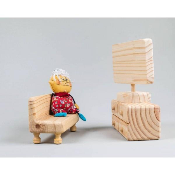 Sala para casinha de boneca - Olly Toys