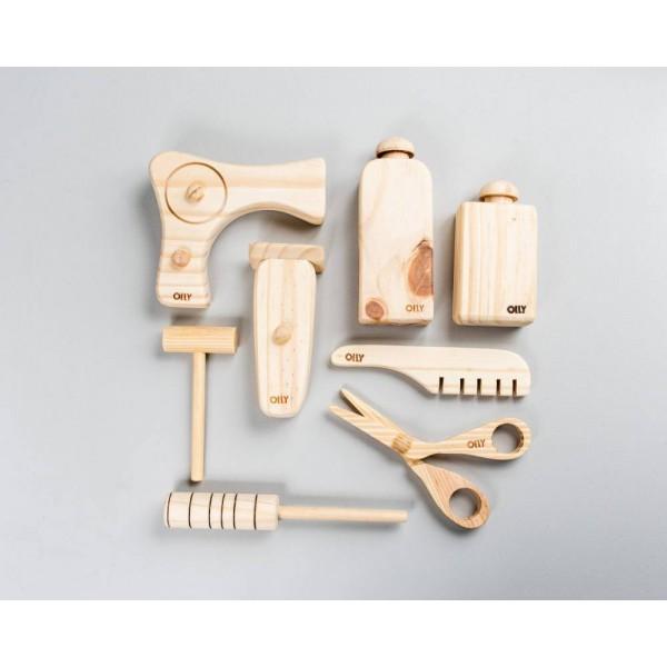 Kit Cabeleireiro em madeira - Olly Toys