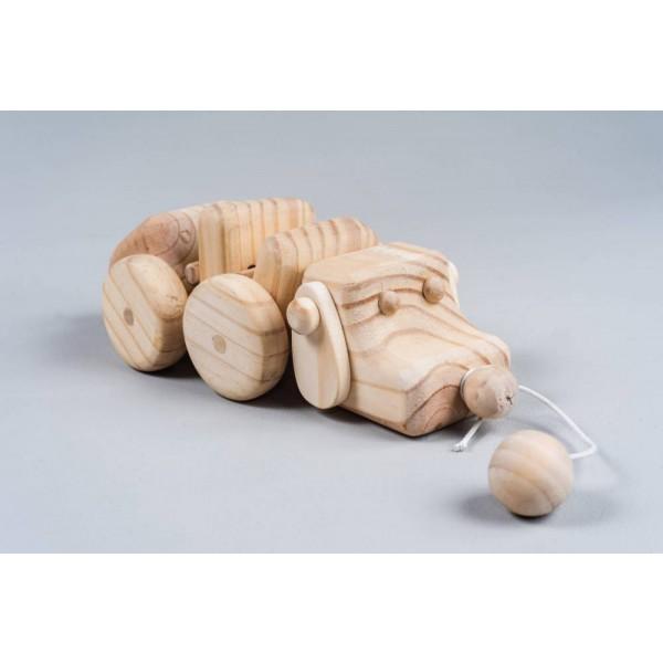 Cachorro de madeira de Puxar - Olly Toys
