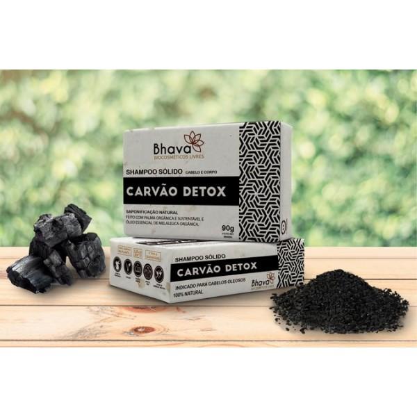 Shampoo Sólido Detox 90g - Linha Lixo Zero Bhava
