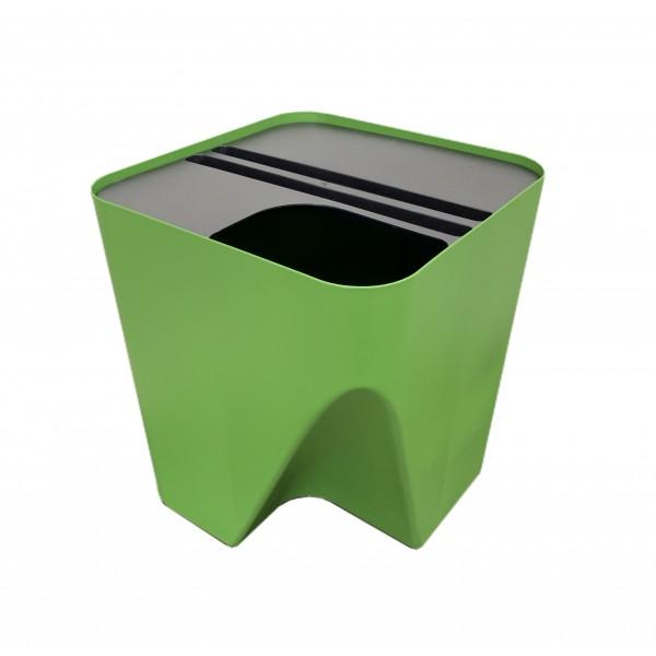 Lixeira empilhável para reciclagem
