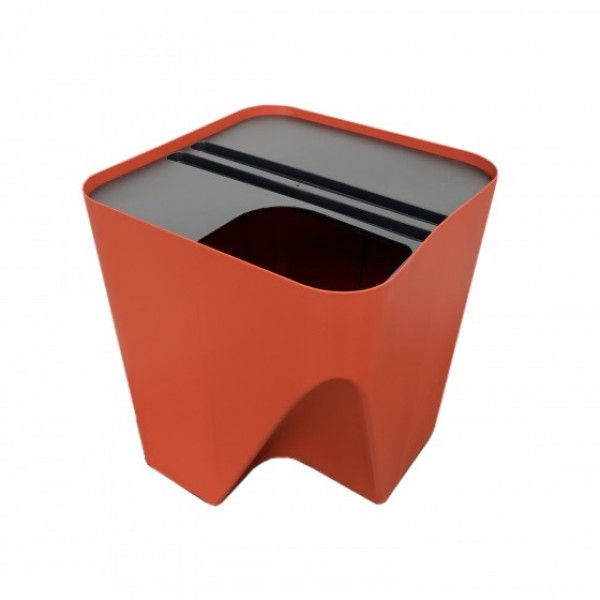 Lixeira empilhável para reciclagem Vermelha