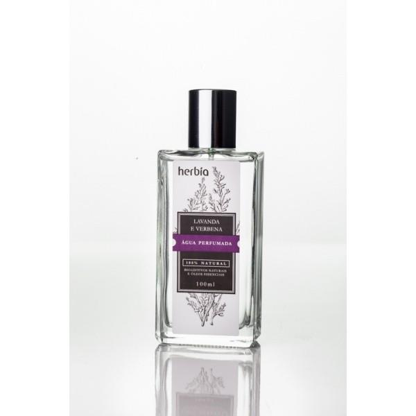 Água Perfumada Orgânica e Vegana Herbia Lavanda e Verbena Branca 100 ml