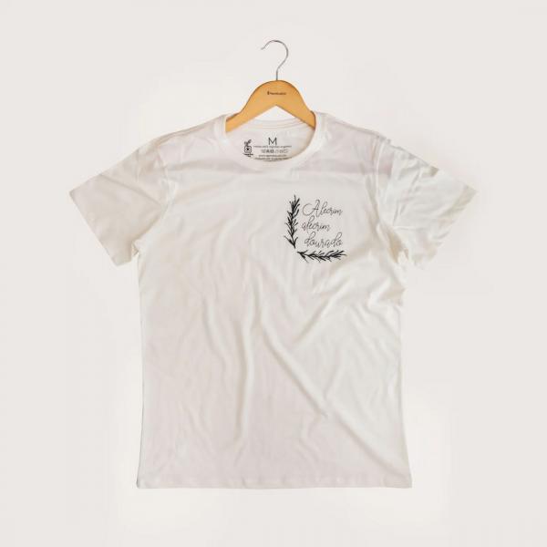 Camiseta Alecrim - 100% Algodão Orgânico Off White Agora Sou Eco