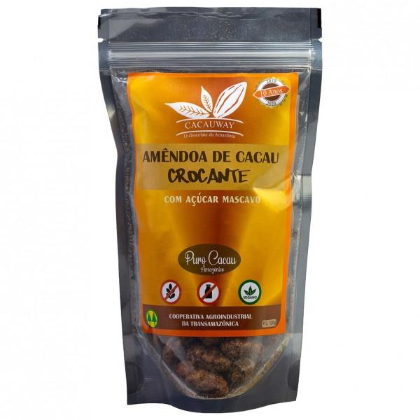 Amêndoa de Cacau Amazônico com Açúcar mascavo 120g – Cacauway