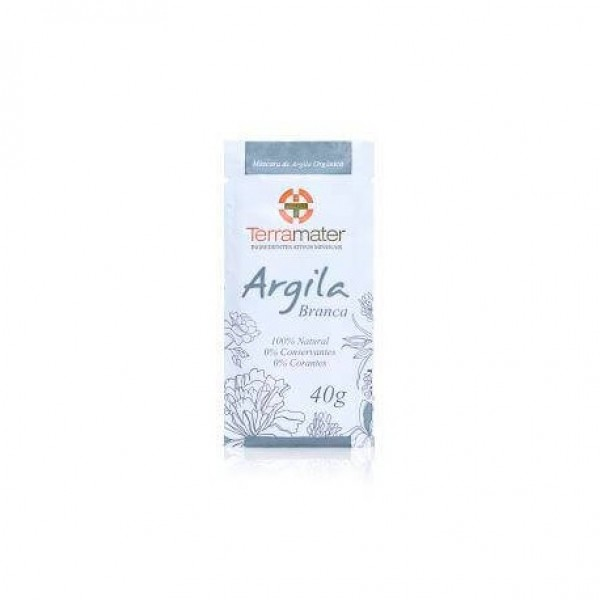 Argila Orgânica Terramater Branca 40g