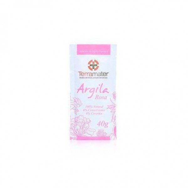 Argila orgânica rosa antiage