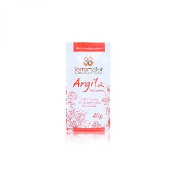 Argila orgânica vermelha antiage