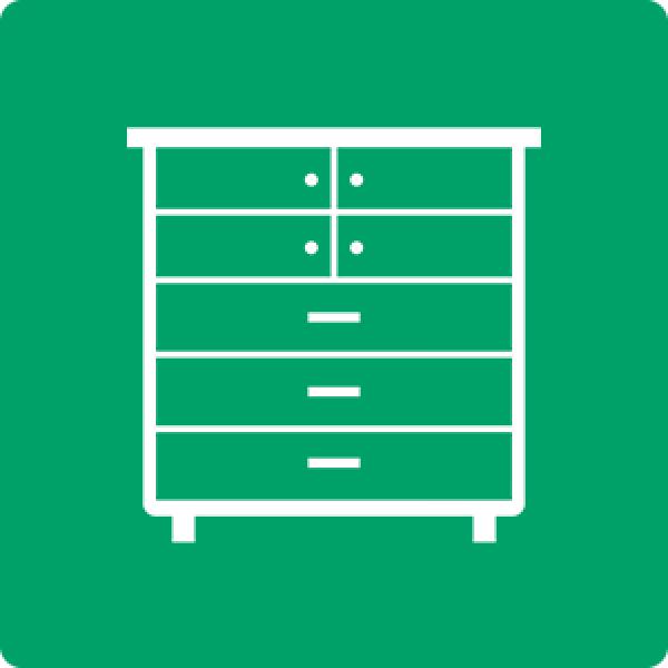 Descarte ecologico de armário