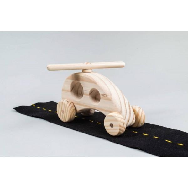 Helicóptero de madeira - Olly Toys