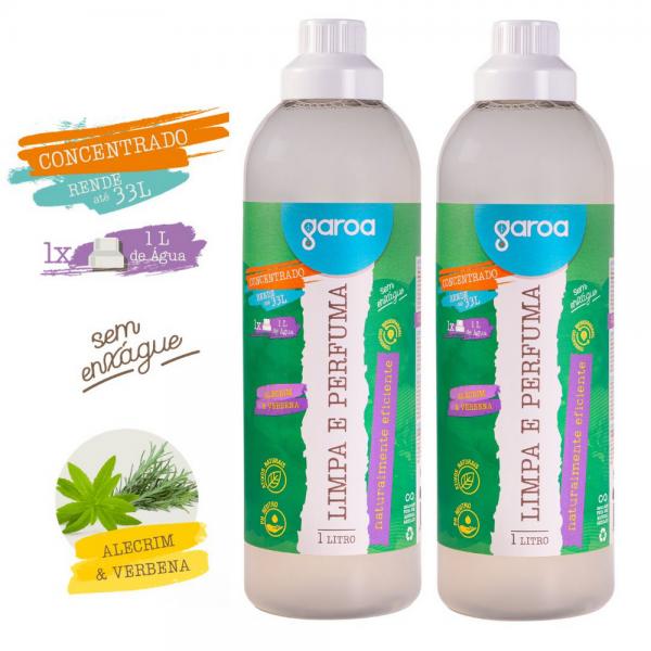 Limpa e Perfuma Garoa Alecrim & Verbena 1 litro - 2 unidades