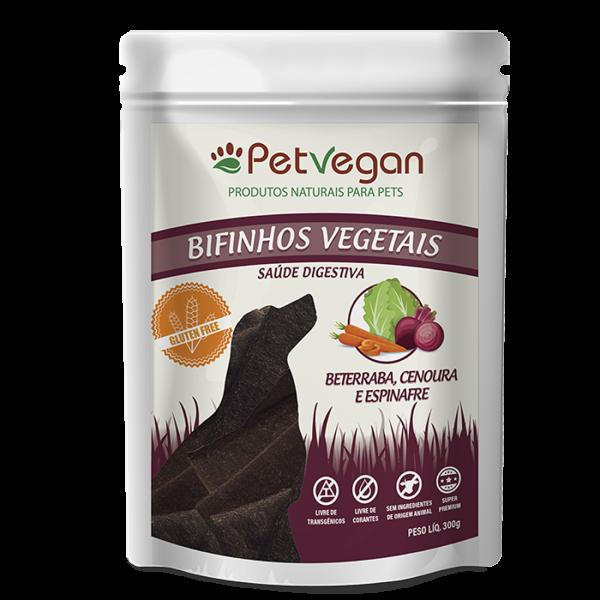Bifinho Sem Glúten PetVegan Vegetais - Cenoura, Beterraba e Espinafre 300g