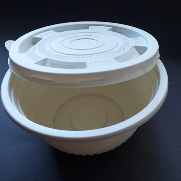 Bowl Biodegradável de Amido de Milho com Tampa -40 un - 620ml-  Preserva mundo