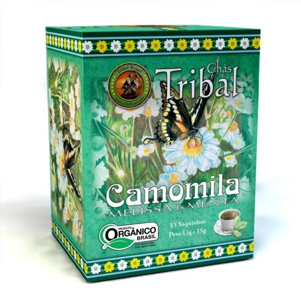 Chá Tribal Brasil - Camomila, Melissa e Menta - Sachê (15 sachês)
