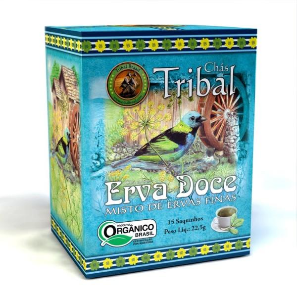 Chá Tribal Brasil - Erva Doce - Sachê (15 sachês)