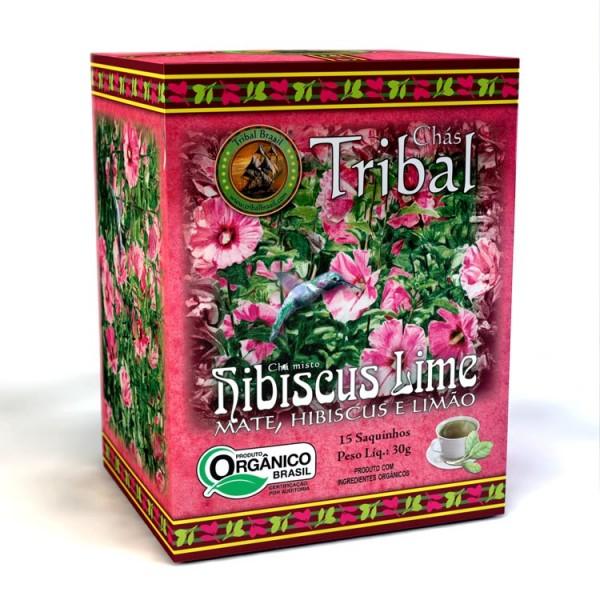 Chá Tribal Brasil - Hibiscus Lime - Sachê (15 sachês)