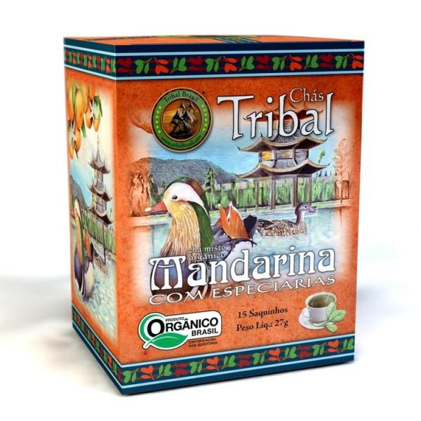 Chá Tribal Brasil - Mandarina com Especiarias - Sachê (15 sachês)