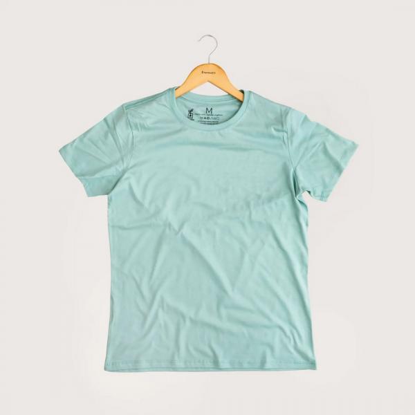 Camiseta Sem Estampa - 100% Algodão Orgânico Azul Agora Sou Eco