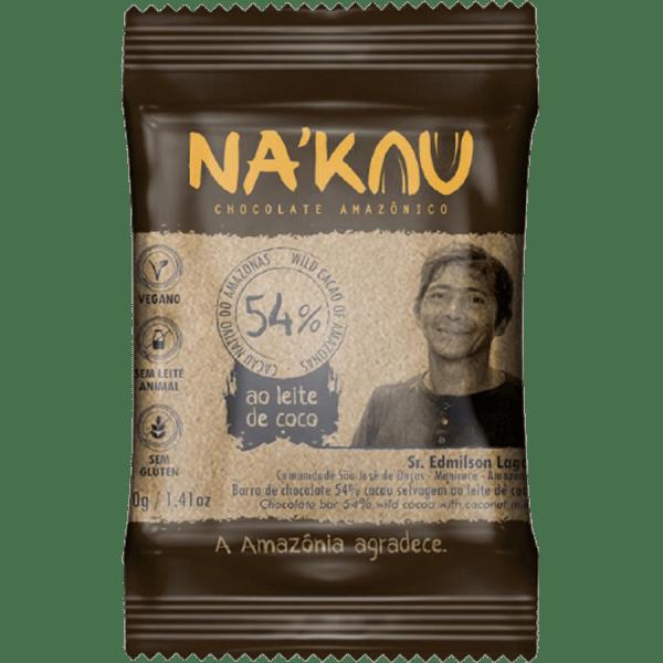 Chocolate 54% Cacau – 40g – Na'kau