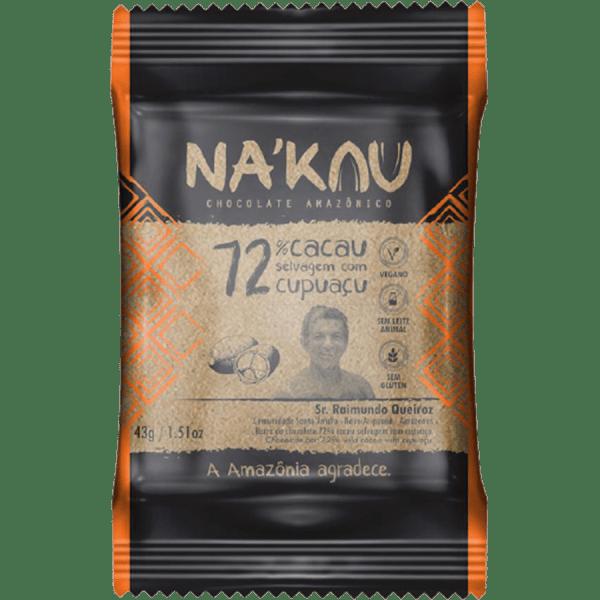 Chocolate 72% Cacau com Cupuaçu – 43g – Na'kau