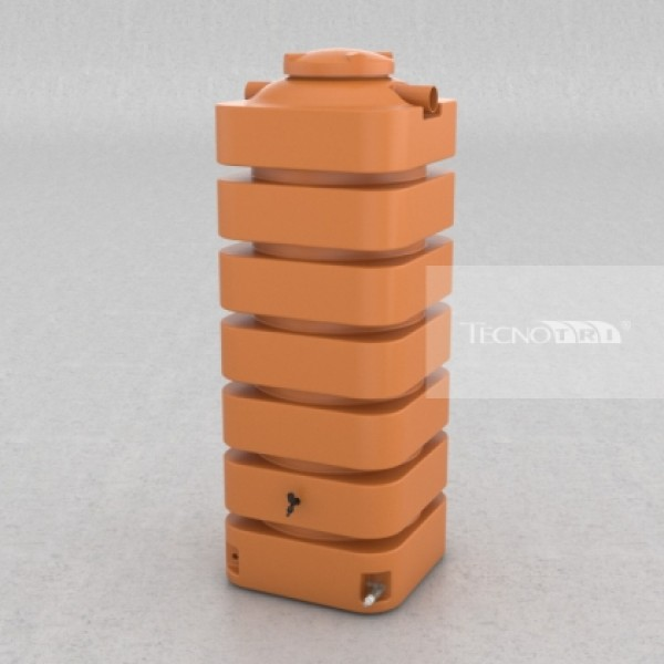Cisterna vertical 1050 litros - Laranja