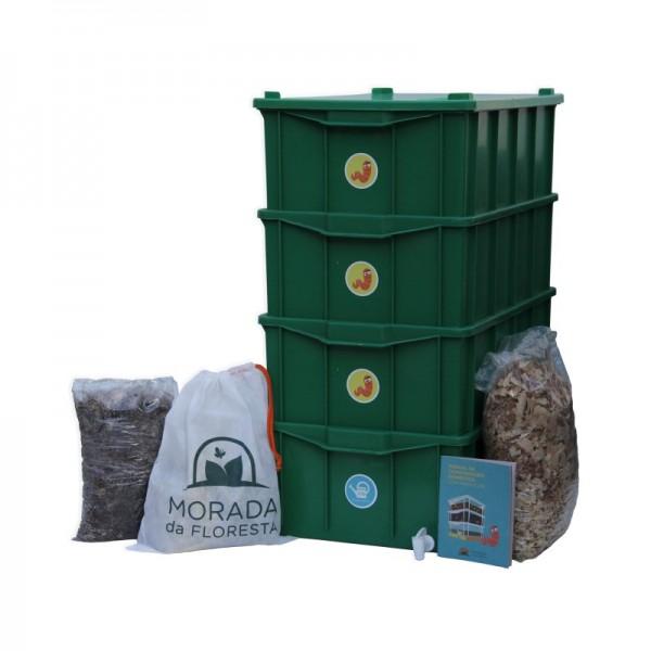 Composteira Doméstica Kit G4 Verde