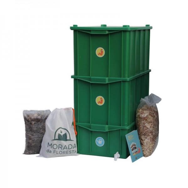 Composteira Doméstica Kit GG Verde