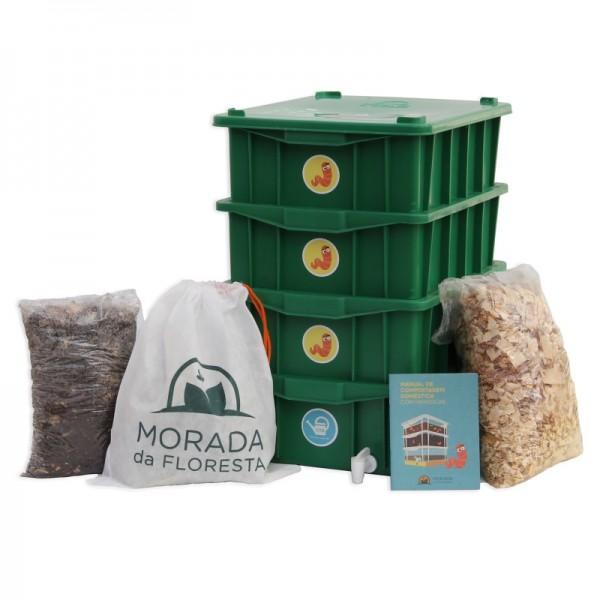 Composteira Doméstica Kit P4 - Verde