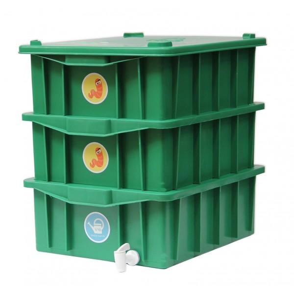 Composteira doméstica verde