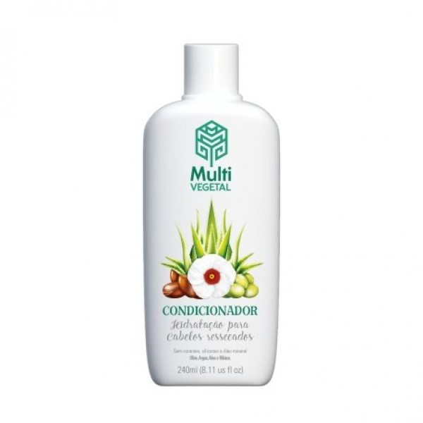Condicionador Natural Vegano Oliva Argan Aloe e Hibisco