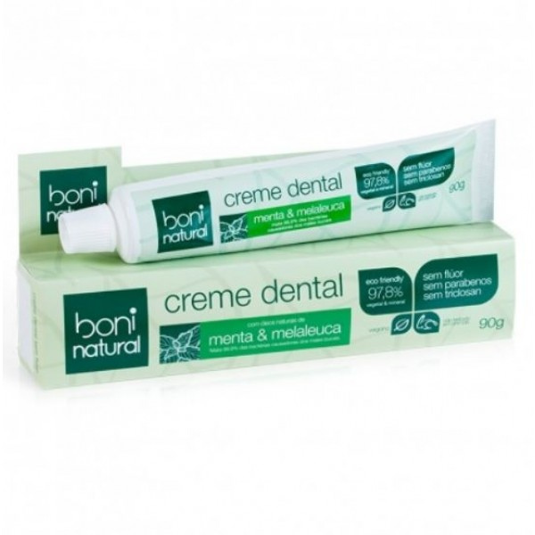 Creme Dental Natural e Vegano Boni 90 g