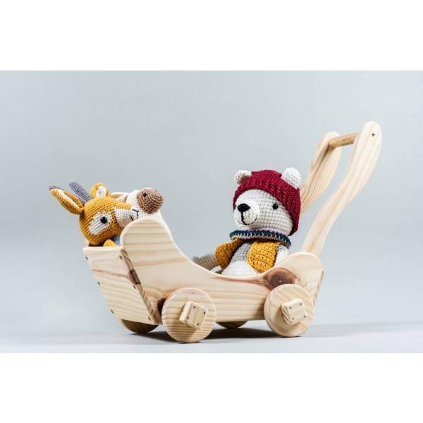 Carrinho de boneca em madeira - Olly Toys