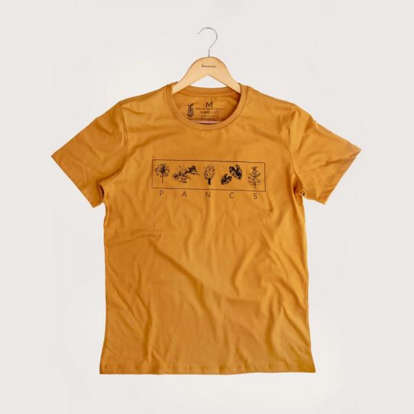 Camiseta Pancs - 100% Algodão Orgânico Mostarda Agora Sou Eco