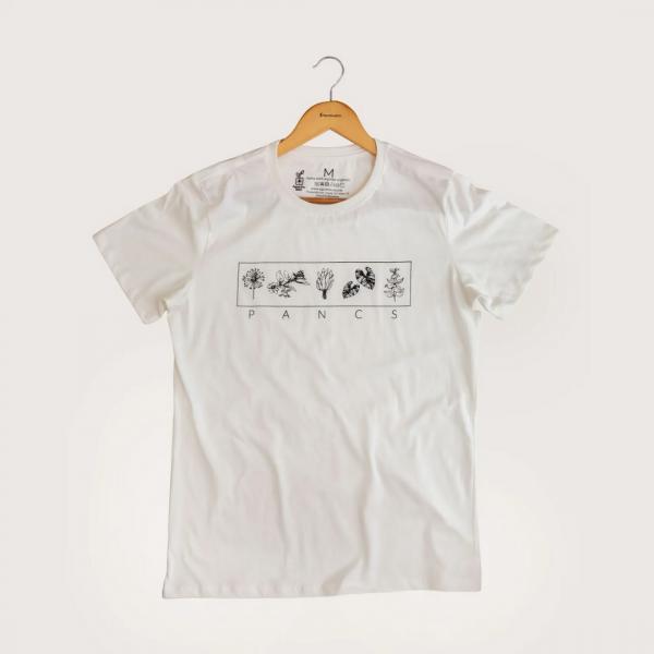 Camiseta Pancs - 100% Algodão Orgânico Off White Agora Sou Eco