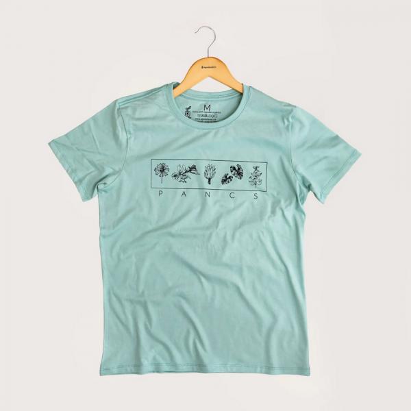 Camiseta Pancs - 100% Algodão Orgânico Azul  Agora Sou Eco