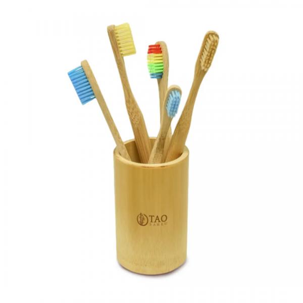 Kit Saboneteira Esteira + Porta Escovas Tao Bambu