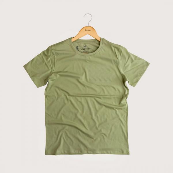 Camiseta Sem Estampa - 100% Algodão Orgânico Verde Agora Sou Eco