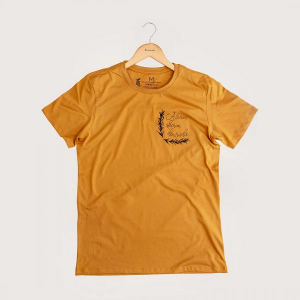 Camiseta Alecrim - 100% Algodão Orgânico Mostarda Agora Sou Eco