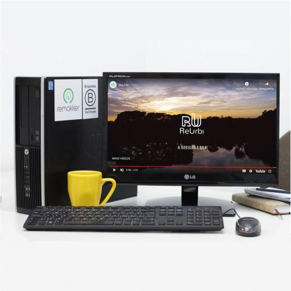 "Conjunto Desktop Compaq 8000 Series - HP - i5 - 4 GB - 500 GB - 19"""