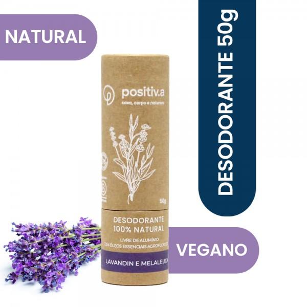 Desodorante 100% Natural Lavandin e Melaleuca 50g Positiv.a