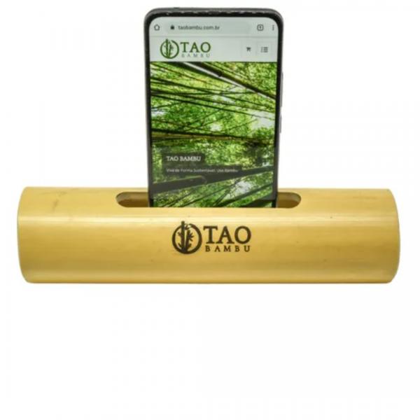 Caixa de Som de Bambu Rústica - Tao Bambu