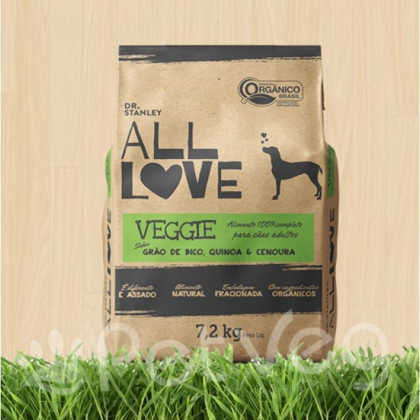 Ração Vegetariana Organica All Love 7,2kg